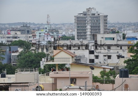 View of Hyderabad in India