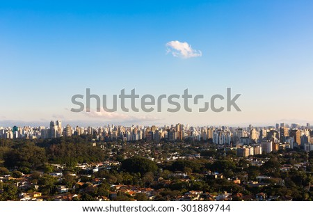 View of Ibirapuera neighborhood, Sao Paulo - Brazil