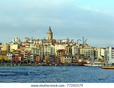view of Istanbul - stock photo