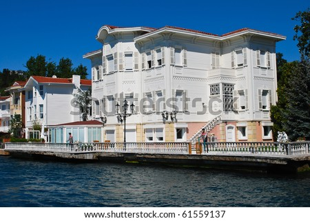 View of Istanbul from a boat - stock photo