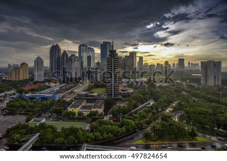 View of Jakarta City, Indonesia