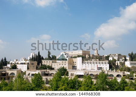 View of Jerusalem  city in Israel - stock photo