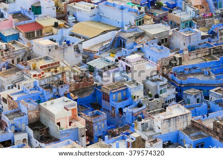 View of Jodhpur (Blue city).Rajasthan, India