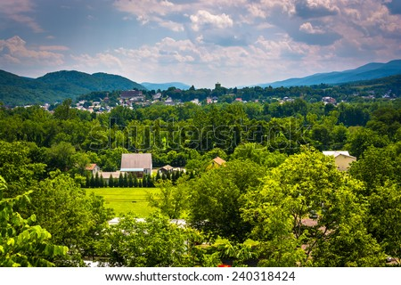 View of Keyser, West Virginia. - stock photo