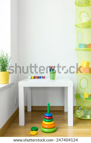 View of kids space in modern house - stock photo