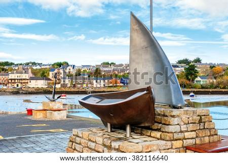 View of Kinsale harbor. County Cork, Republic of Ireland  - stock photo