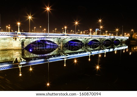 View of Lagan Bridge. - stock photo