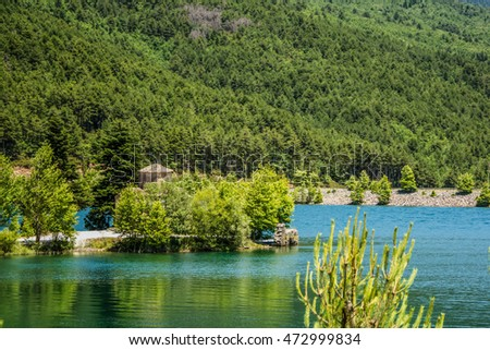 View of lake Doxa in Peloponnese, Greece.