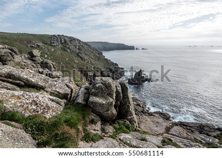 View of Lands End, Cornwall UK
