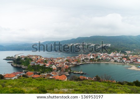 View of landscape Amasra, Turkey.