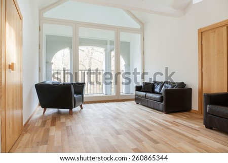 View of leather furniture in a room