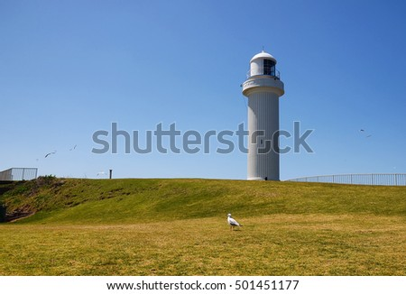 View of Lighthouse at Wollongong, NSW Australia.