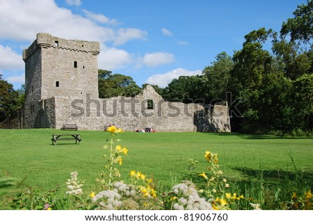 View of Loch Leven Castle - stock photo