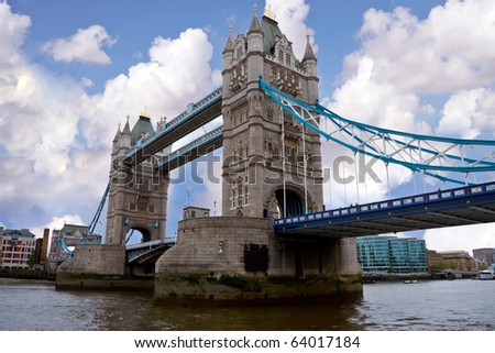 View of London bridge - stock photo