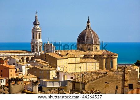 View of Loreto, italy - stock photo