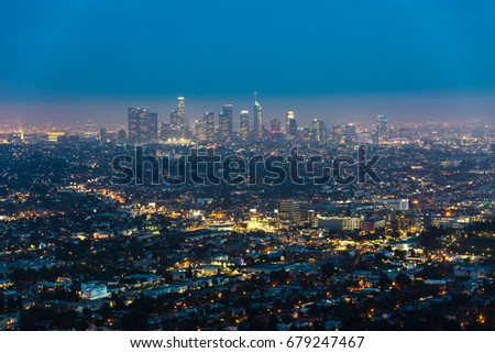 View of Los Angeles from Griffith Park