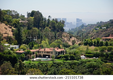 View of Losa Angeles - stock photo