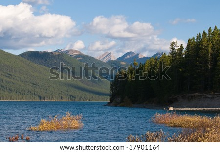 View of Lower Kananaskis Lake Alberta Canada