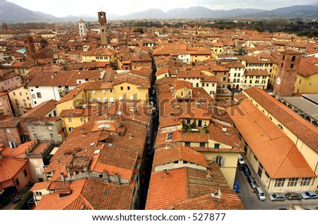 view of lucca italy from tower