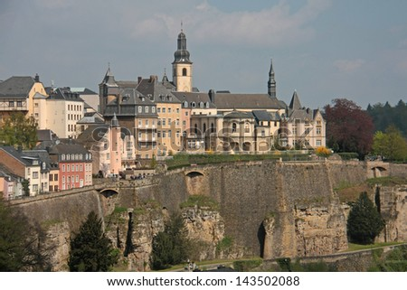 View of Luxembourg city center
