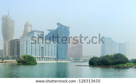 View of Macau in the morning - stock photo