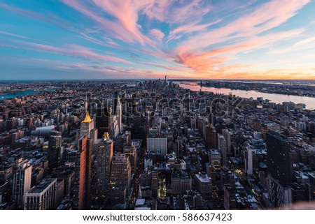 View of Manhattan / New York City from Empire State Building