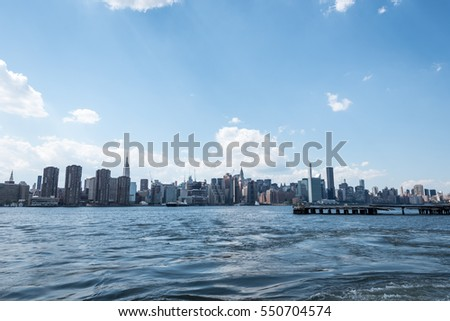 View of Manhattan skyline, NYC