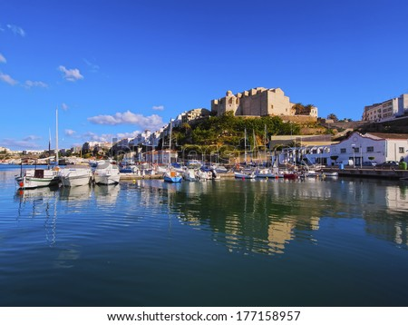 View of Mao - capital city of Menorca, Balearic Islands, Spain