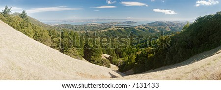 View of Marin County, California, USA