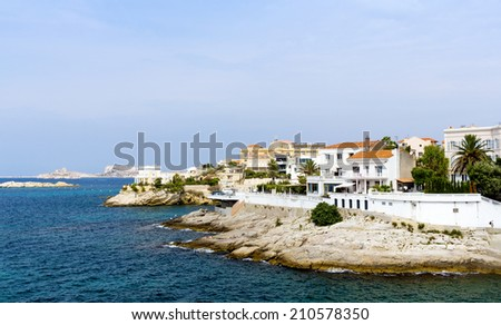 View of Marseilles, France - stock photo