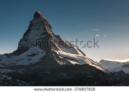 View of Matterhorn Mt. at Zermatt ,Switzerland