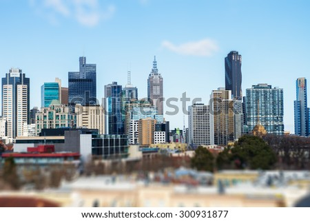 View of Melbourne City, Australia