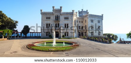 View of Miramare castle, Trieste - Italy
