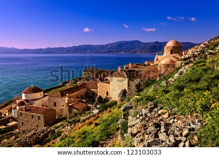 View Of Monemvasia.