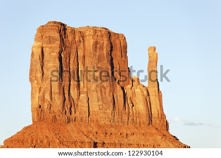 view of Monument Valley West Thumb - stock photo