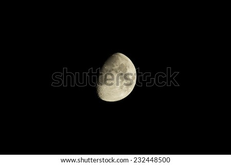 view of moon - stock photo