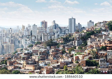 View of Morro do Papagaio at Belo Horizonte, Minas Gerais, Brazil - stock photo