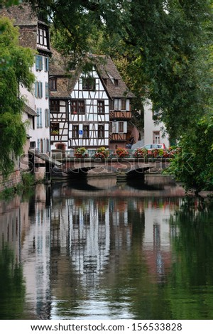 View of Moulins street in Strasbourg, France