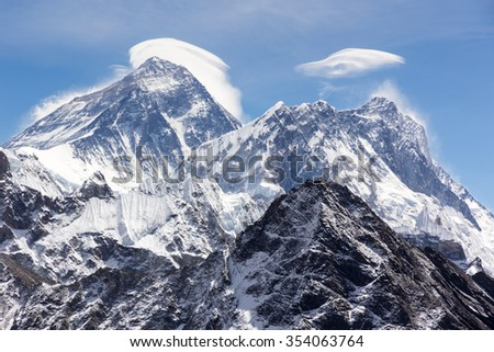 View of Mt.Everest from Gokyo Ri, Nepal
