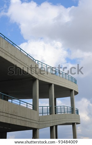 view of multilevel parking place