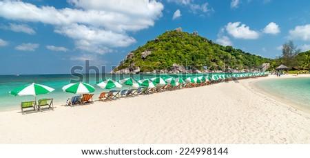 View of Nang Yuan island of Koh Tao island Thailand - stock photo