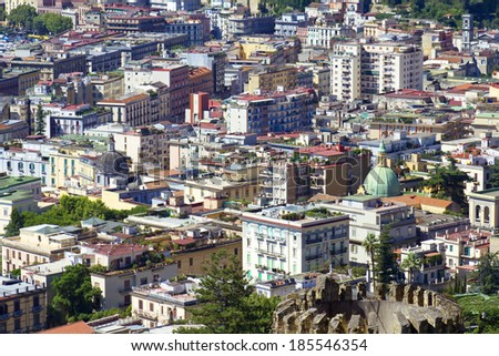 View of Naples, Italy, close up, texture, background - stock photo