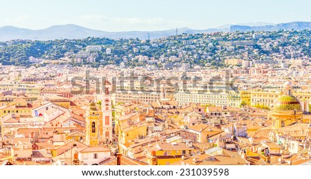 View of Nice, France - stock photo