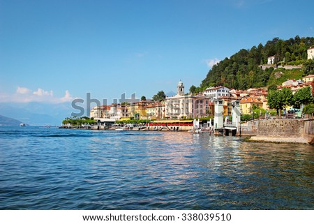 View of old Bellagio town at Como lake in summer, Italy. - stock photo