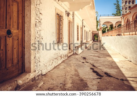 View of old town in Chania, Crete, Greece - stock photo