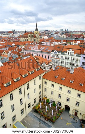 View of old town Prague - stock photo