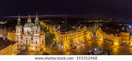 View of Old Town's Square in Prague - stock photo