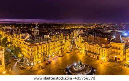 View of Old Town Square in Prague - Czech Republic - stock photo