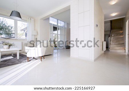 View of open space in bright home