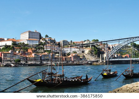 View of Oporto and D. Luis bridge, Portugal